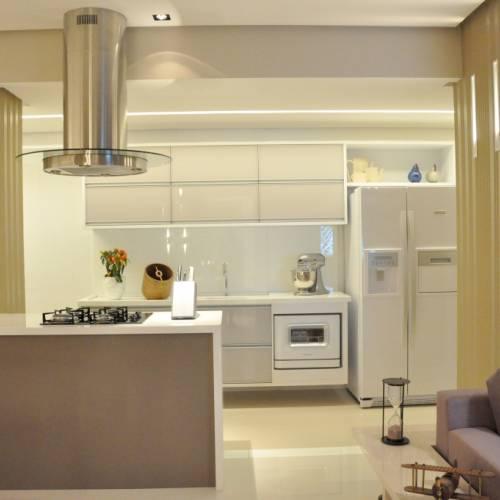 Cozinha Americana do Apartamento Decorado