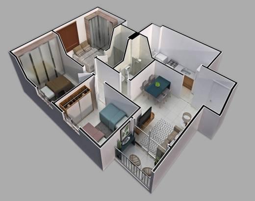 Isométrica 3 quartos